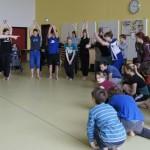 Choreograph Volker Eisenach bei den Proben zu Thüringen hoch 3